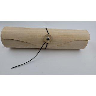Holz Spanrolle für Weingeschenk zur Deko, natur 9 x 9 x 34 cm Ø 9 cm