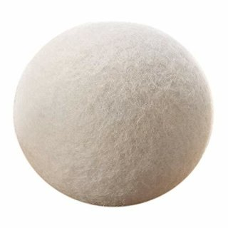 Sauber Meister Trocknerbälle für Trockner   3 weiße Bälle Wäschetrockner   Alternative zu Weichspüler und Trocknertücher   Aus 100% neuseeländischer Schafwolle